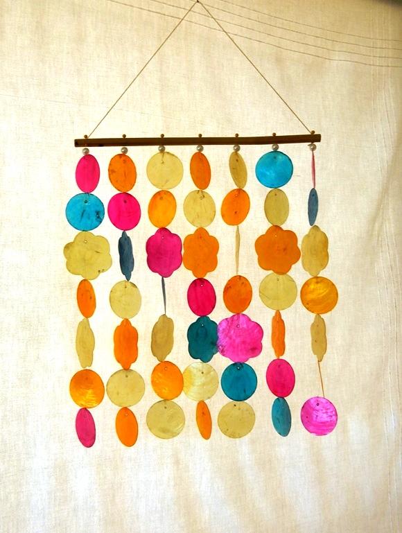 Capiz Curtain Multi Colour CodeJ115